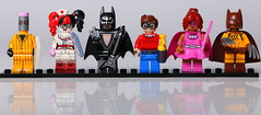 Lego Batman Movie (Crisp-13) Tags: eraser lego minifigure batman movie legography harley quinn nurse uniform outfit arkham asylun red black hair girl pencil rubber catman claws claw mask pink power batgirl bow dick grayson glam metal guitar electric