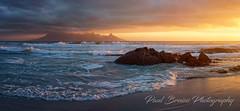 Blaauwberg Sunset Panorama (Panorama Paul) Tags: paulbruinsphotography wwwpaulbruinscoza southafrica westerncape capetown tablemountain blaauwbergbeach rocks waves beach sunset panorama nikond800 nikkorlenses nikfilters