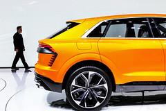 Q8 (Arran_Photography) Tags: audi q8 concept orange car cars auto autos suv 4x4 geneva motorshow event backdrop white alloy advert quattro