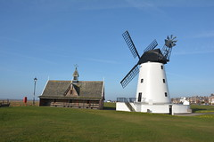 LYTHAM MILL (Andy bradders) Tags: lythammill lythanstannes blackpool coast mill windmill wind sails cap mock tearooms cafe 1951 1919 1989 1921 restored grade2 grade2listedbuilding building johntclifton public burntout westcoast seaside seafront mexico lifeboat southport 9121886 mexicodisaster ribble riverribble estuary river german barque lancashire fyldeboroughcouncil lythamlifeboat 4sails sandbanks lythamstannes lythamgreen canon england greatbritian uk fire highwinds gales eos bluesky springmorning redrose