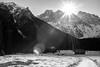 Krnica (::ErWin) Tags: kranjskagora jesenice slowenien lipnica explore slovenia krnica vrsic snow skimountaineering mountains rocks 500d canon sigma blackandwhite monochrome mountain flares