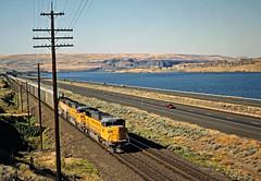 UP, Biggs, Oregon, 1991 (railphotoart) Tags: ebup stillimage biggs oregon unitedstates