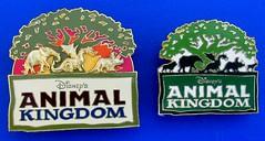 Disney's Animal Kingdom theme park (Florida) - souvenir/merchandise badges (c.2000) (RETRO STU) Tags: disney'sanimalkingdommovie waltdisneyworldresort orlando florida usa zoologicalthemepark treeoflife enamelbadge