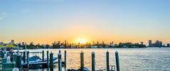 Miami sunset (-ebphoto-) Tags: nikon d3200 1020 mm sunset miami florida usa water sea sun scenery landscape cityspace skyline