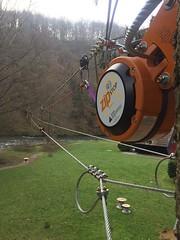 Another high-speed #zipline ready in Belgium #zipstop (Skywalker Adventure Builders) Tags: high ropes course zipline zipwire construction design klimpark klimbos hochseilgarten waldseilpark skywalker