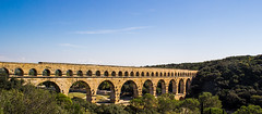 Pont du Gard (Topher Graham) Tags: south france roman viaduct sky tress