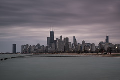 Chicago 31-03-2017 (John Holmes (DAJH51)) Tags: chicago nikond750 usa buildings groynes lake longexposure march sigmaart24105 skyline skyscrappers urban water