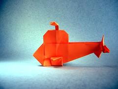 Submarine - Robin Glynn (Rui.Roda) Tags: origami papiroflexia papierfalten vehicle veículo submarino submarine robin glynn