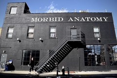Morbid Anatomy (-»james•stave«-) Tags: newyork nyc brooklyn gowanus parkslope city urban street wall black facade building museum art science life death muerte beauty mortality anatomical medical sign words letters text joannaebenstein nikon d5300