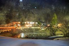 深山林里的溫泉區 (湯小米) Tags: canon 1dx ef2470mmf28l 新穗高 奧飛驒 溫泉 溫泉鄉 雪地 snow 雪景 夜景 深山莊