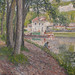 PISSARRO Camille,1902 - Moret, le Canal du Loing, Chemin de Halage à St-Mammès (Orsay) - Détail 05