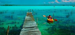 Bacalar (matt_sekuloff) Tags: bacalar quintanaroo cancun mexico agua water lago lake canoe kayak relax chill freshwater relajar travel viajar serenity blue aqua trip beach