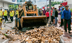 The Clean Up (Fermat48) Tags: georgetown penang malaysia taipusam coconuts milk silver chariot lordmuruga canon eos 7dmarkii cleanse route cleaningcrew cleanup