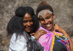 Borana young women in traditional clothing during the Gada system ceremony, Oromia, Yabelo, Ethiopia (Eric Lafforgue) Tags: adults africa african africanculture afro anthropology badhaasa boran borana borena celebration ceremony colourpicture culturalheritage eastafrica ethiopia ethiopia0317177 female gaada gada gadasystem gadaa hair hairstyle headband horizontal hornofafrica jewelry lookingatcamera oromia oromiya oromo oromya outdoors smiling traditional traditionalculture tribalculture tribe twopeople unesco waistup women womenonly yabello yabelo et