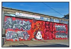 SHUTTER ART by GHOSTWRITERS (StockCarPete) Tags: ghostwriters streetart londonstreetart shutterart spraycanart geisha graffiti graff aerosolart yale cazer 2rise tworise jaykaes kaes planetrick jeba london uk eastlondon