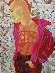Rebellion (Megan Coyle) Tags: throwbackartwork throwbackthursday rebellion figurative figurativeart figurativecollage mohawk ska skashirt typography type text collage collageart art paperart papercollage magazinecollage warmcolors illustration man paintingwithpaper cutandpaste megancoyle