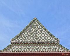 Wat Nangnong Phra Ubosot Gable (DTHB0434) วัดนางนอง หน้าจั่ว พระอุโบสถ