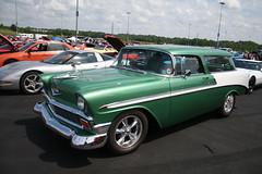 1956 Chevy Nomad Wagon (osubuckialum) Tags: green classic cars chevrolet wagon nc charlotte northcarolina chevy hotrod kickoff 1956 carshow 56 2014 hotrodpowertour zmax powertour zmaxdragway hotrodzmaxdragway
