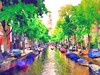 Amsterdam Canal (Bob Smerecki) Tags: auto portrait hot color sexy art water colors amsterdam pen pencil ink photoshop painting boats canal sketch artwork dynamic bright 21 drawing 5 strokes gothic fine scenic illustrations brush canvas virtual pastels painter blonde editor watercolors oils rendering gmx smartphoto photopainter smackman snapnpiks