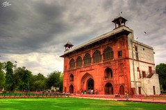 Architecture inside the Red Fort. (Aman S Agrawal) Tags: red sky india building heritage architecture clouds canon landscape amazing fort delhi dramatic drama incredible hdr redfort incredibleindia