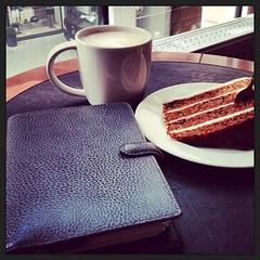 At Starbucks, Nuremberg (iris30606) Tags: coffee cake starbucks filofax finsbury instagramapp