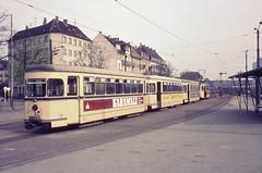 Once upon a time - Germany - Mannheim Käfertal (railasia) Tags: station germany junction depot infra mannheim sixties fuchs tramstop oeg käfertal metergauge grosraum classicsignal motorcartrailer