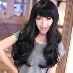 วิกผมยาว แบบสาวเกาหลีหน้าม้าสวยแบบธรรมชาติสวยรุ่นใหม่ นำเข้า สีดำ - พร้อมส่งW028 ราคา670บาท วิกผมยาวหน้าม้า สวยด้วยทรงผมยาวดัดลอนใหญ่สวยแบบสีดำธรรมชาติสุดๆหวานสวยเซ็กซี่ทุกงานมั่นใจอย่างดารารุ่นนี้ทรงใหม่น่ารักมากๆฮิตสุดๆ จะออกงานให้ดูน่ารักแบบดาราเกาหลีว