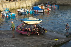 'We've FINALY got there!' EIGHT in a series... (AJFpicturestore) Tags: rooftop cornwall harbour slipway topper hs lastone porthleven madeit roadworthy alanfoster tiedon cornishharbours ttr195 audiabuse