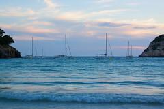 (Almost) Sunset (21:15) (andyfpp) Tags: blue sunset sea canon bay cloudy yachts menorca 2014 balearicislands 500d calagaldana canon500d 24105mm canonef24105mmf4lis 24105mmf4lis aperture3
