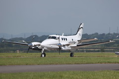 M-OTOP (aitch tee) Tags: visitors beech kingair cardiffairport motop cambrianapron