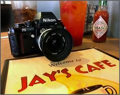 F3 & 20mm visit Jay's Cafe (NoJuan) Tags: cameraphone nikon cellphone nikonf3 android cameraportrait strawberrylemonade cameraporn f3hp nikonporn 20mmnikkor phonesnapshot androidphotography vintagenikonporn effectedcamera
