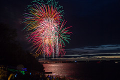 Olcott Beach - July 3rd (joe.diebold) Tags: sunset reflections buffalo fireworks celebration buffalony independence 4thofjuly independenceday canalside