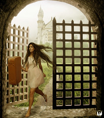 Break Free From the Chains ... (rubyblossom.) Tags: castle girl leaving chains gate gallery escape stock running run traveller fantasy da imagination suitcase fortress users flee runningaway 2014 escaping challenge87 rubyblossom rubystreasures