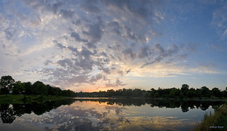 Stephen's Lake Sunset Panorama
