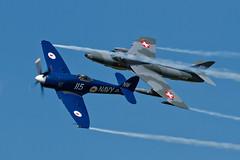 Hawker Sea Fury FB11 and Hawker Hunter T68 - 1 (NickJ 1972) Tags: les la aviation des airshow hunter temps hawker 2014 t68 seafury alais helices ferte wh589 fb11 fazxj nw115 j4201 hbrvr