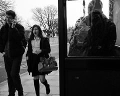 I don't like Mondays. (donvucl) Tags: street bw london yawn olympus hackney figures donvucl epl5