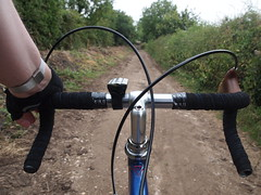 A Short Cut (cycle.nut66) Tags: road old school england bicycle countryside stem cut path steel bob drop off jackson headset lane short stuff rough stoke hammond quill handlebars hedgerow bridle levers hoods cinelli mafac