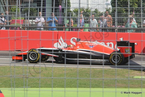 Jules Bianchi in qualifying for the 2014 German Grand Prix