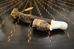 "PORCELAIN AND HORN SMOKING PIPE. • <a style=""font-size:0.8em;"" href=""http://www.flickr.com/photos/51721355@N02/14733900618/"" target=""_blank"">View on Flickr</a>"