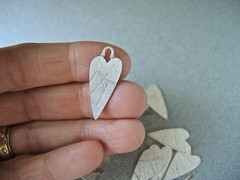Etsymetal Charm Swap 14 progress... (betsy.bensen) Tags: heart charm finesilver cs14 etsymetal