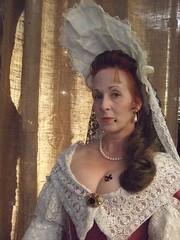 Full Portrait of Lilly McKinney 1680 (Cheeky Actress) Tags: english pirate reenactment reenactor livinghistory piratecrew courtdress reenactorfest 1690s 1680s fontange late17thcentury goldenageofpyracy goldenageofpiracy militaryhistoryfest pyratecrewe midwestreenactor