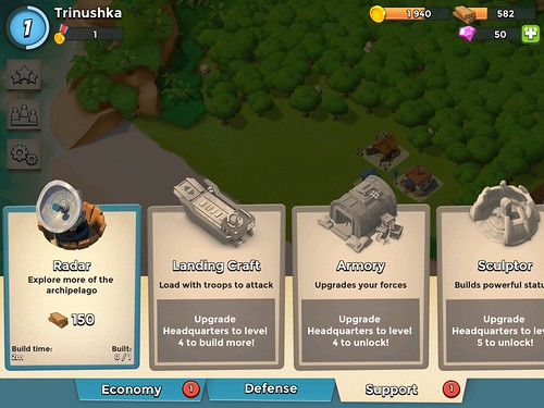 Boom Beach Items Store: screenshots, UI