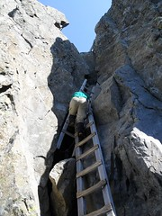 Me, ascending the ladders