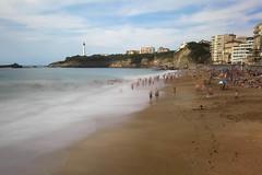 GRANDE PLAGE BIARRITZ (Rober1000x) Tags: longexposure summer lighthouse france faro europa europe playa plage biarritz 2014 aquitaine