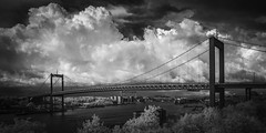 Storm Over lvsborgsbron (Mabry Campbell) Tags: bridge bw storm monochrome architecture clouds gteborg ir photography coast harbor photo europe foto photographer image fav50 sweden gothenburg may fav20 coastal photograph infrared 100 24mm bild scandinavia campbell fav30 f71 suspensionbridge fineartphotography mabry 2014 architecturalphotography vstragtaland commercialphotography fav10 fav100 720nm fav40 fav60 lvsborgsbron architecturephotography fav90 fav80 fav70 commercialphotographer tse24mmf35l fineartphotographer architecturalphotographer mlackandwhite houstonphotographer architecturephotographer sec mabrycampbell may192014 inforared 20140519img7614