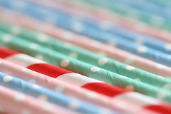 Standing out in the crowd (judi may) Tags: macro closeup dof bokeh pastel stripes spotty straws filltheframe pastelcolours drinkingstraws standingoutinthecrowd macromondays macromonday canon7d