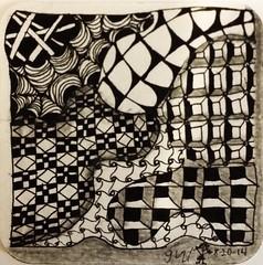 Zentangle/ Doodling (onenonly782) Tags: art tile tangle micronpen zentangle 8bgraphite