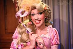 Rapunzel gets ready for the Masquerade Ball (WDW-Girl (wdw1hsm1girl)) Tags: fairytale hall mask princess disney masquerade wdw waltdisneyworld rapunzel magickingdom fantasyland tangled