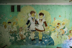 DSC01011 (FarewellFire) Tags: city school abandoned nature wall children dead mural classroom decoration nuclear ukraine communism caution learning ghosttown radioactive 1986 destroyed socialism sovietunion reclaimed chernobyl pripyat