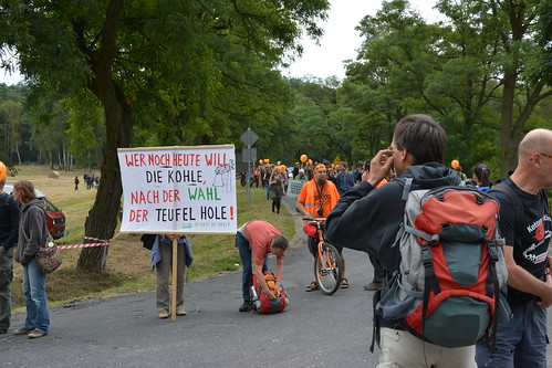 23.08.2014: Anti-Kohle-Kette von Kerkwitz bis Grabice